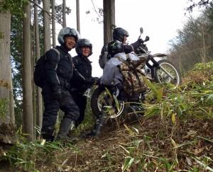 服部聖輝さんの林道レッスン・チャレンジ