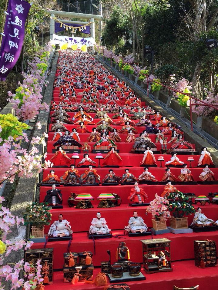 勝浦 ひな祭り 遠見岬神社