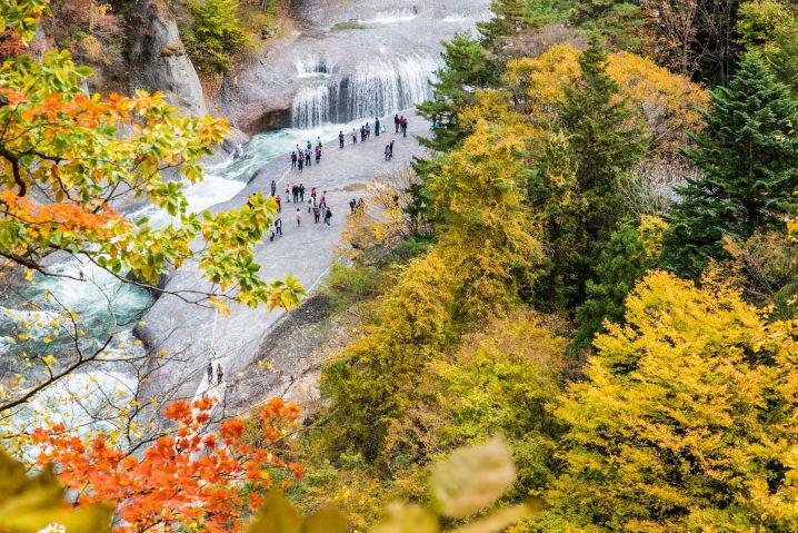 吹割の滝 紅葉 ツーリング