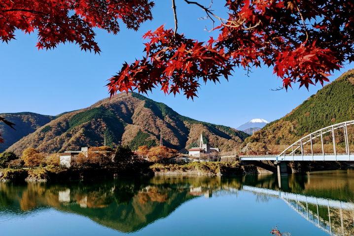 丹沢湖 紅葉 ツーリング